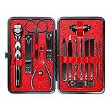 luosh Pedicure Kit Nail Clipper Set, 15 Piezas Kit de Aseo Profesional Kit de Herramientas de Viaje Set para Hombres y Mujeres