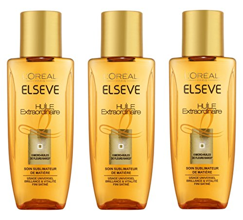 L'Oréal Paris Elsève Soin Cheveux Huile Extraordinaire Universelle 50 ml - Lot de 3