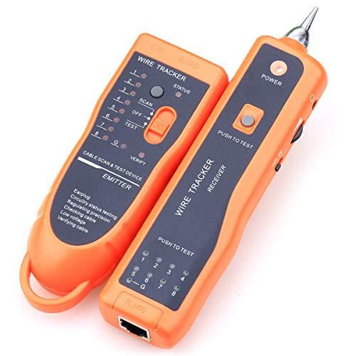 Kabelsucher XQ-350RJ45RJ11,zum Finden von Telefon-, Netzwerk-, Draht-, LAN-Kabel, zum Erkennen von Anode/Kathode, Diagnose-Werkzeug, Netzwerk-Tool, mit Kristallaufsatz