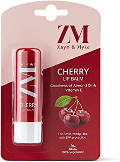 ZM Zayn & Myza Vanilla Lip Balm - SPF Protection With Almond Oil & Vitamin E, Goodness of Jojoba Oil, Moisturizes and Repa...