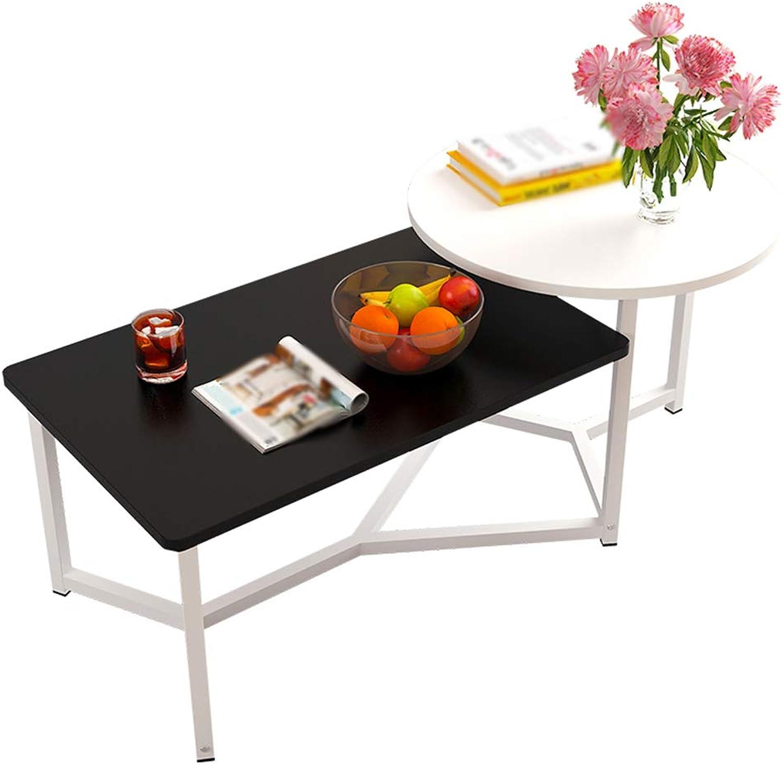 60% de descuento GYH ZhuoZi LJHA Mesa de té Mesa de té Simple Simple Simple salón Mesa rojoonda Cuadrada blancoo y Negro Mesa (Color   A, Tamaño   122  50  40cm)  Tienda 2018
