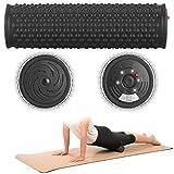 PEARL sports Massagerolle: Elektrische Faszienrolle mit 5-stufiger Vibration und Akku, Ø 85 mm (Massagerolle elektrisch)