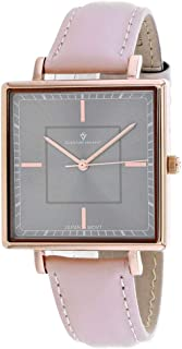 Christian Van Sant Women's Callista Stainless Steel Quartz Leather Strap, Pink, 18 Casual Watch (Model: CV0415)