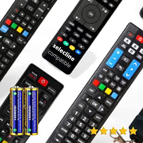 SELECLINE - Mando A Distancia TELEVISIÓN SELECLINE + Pilas - Mando TELEVISOR SELECLINE Mando A Distancia para SELECLINE TV - Compatible Todas Las FUNCIONESSELECLINE TV