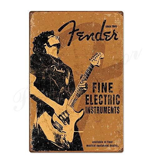 ivAZW Metal Poster Tin Sign Plaque Nostalgic-Art Rock Vintage Plaque Metal Vintage Retro Rock For Bar Pub Club Man Cave 20X30Cm Th3620