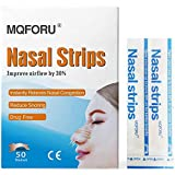 MQFORU 100Pcs Nasal Strips, Better Breathe Nasal Strips to Reduce Snoring, Nasal Congestion Relief, Stops Snoring, Cold and Allergy, Works Instantly to Improve Sleep