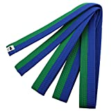 sourcing map Sporty Rank Hapkido Taekwondo Belt Judo Karate Band Verde Azul