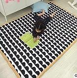 USTIDE Krabbel-Spielmatte für Kinder, weich, ungiftig, für Wohnzimmer, Kinderzimmer, Schule, schwarz/weiß, 59''x79''