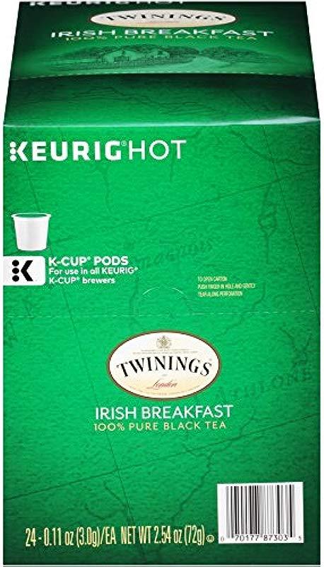 Twinings Of London Irish Breakfast Tea K Cups For Keurig 24 Count