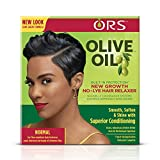 ORS Olive Oil Built-In Protection New Growth No-Lye Hair Relaxer System - Normal Strength (Pack of 2)