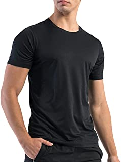 Miavestar Big and Tall Mens Workout Shirts - Moisture Wicking Athletic T-Shirt