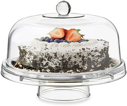 2021 Dailyware lowest Glass online 6-in-1 Footed Multifunctional Cake Dome (1) outlet sale