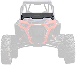 SuperATV Heavy Duty Dark Tint Standard Half Windshield for Polaris RZR XP 1000 / S 1000/4 1000 / S4 1000 / XP Turbo/XP 4 Turbo (2019+) - 250X Stronger Than Glass - Installs in 5 Minutes!