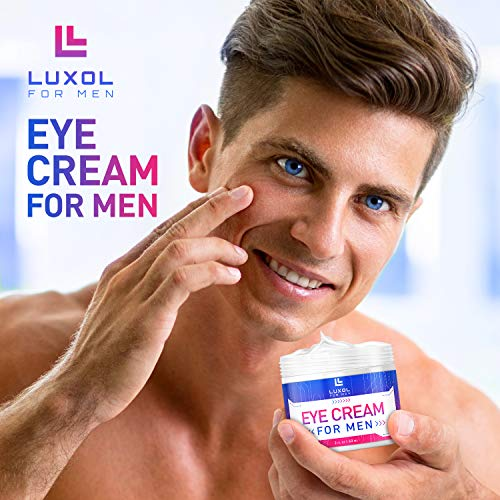 51+rI3v1tjL - Eye Cream for Men, Natural and Organic Anti Aging Eye Cream To Reduce Puffiness, Wrinkles, Dark Circles, Crows Feet and Under Eye Bags 2oz by LUXOL