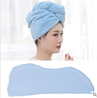 Dry Hair Hat Female Quick-Drying Her Hair Towel Super Absorbent Towel Dry Hair Thicker Artifact Cute Shower Cap Turban Rub (Color : E)