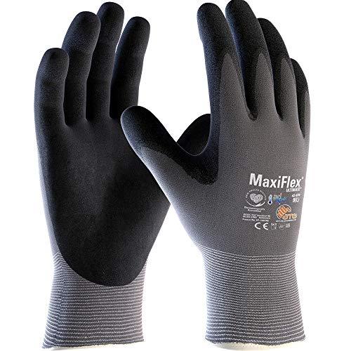 ATG 42-874 - Guante MaxiFlex® Ultimate™ con tecnología Ad-Apt, color gris/negro, talla 7