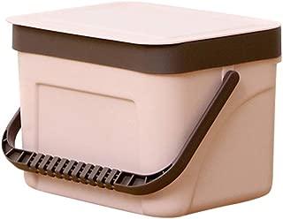 Folding Waste Bin, Trash can, Waste Baskets, Bathroom bin, Kitchen Cabinet, Creative Wall Mounted Folding Waste Bin, Toilet bin, Food Waste Bin for Kitchen Bathroom Car (Pink S(Dual-use ))