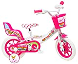 Denver 12' Unicorn - Bicicleta Infantil, Color Blanco y Rosa