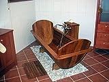 Omega - Bañera de madera con desagüe y rebosadero