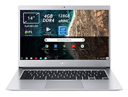 Acer Chromebook 514 CB514-1H-P9AS Notebook Portatile, Processore Intel Pentium Quad-Core N4200, Ram 4GB DDR4, eMMC 128GB, Display 14