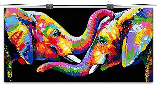 Colorful elephant paintings _image1