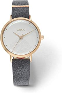 Zyros Watch for Women, Analog, Leather - ZAV005L100411