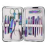 15pcs/set Manicure Set Personal Care, Kit de pedicura con acero inoxidable, regalo perfecto con estuche para mujeres y hombres
