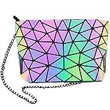HOT ONE Colour Cambia Borse e borsette luminose geometriche Borsa olografica Borsa riflettente Borsa Moda