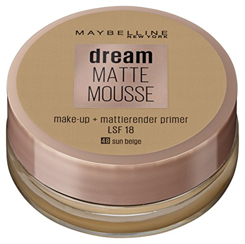 Maybelline New York Make Up, Dream Matte Mousse Make-Up, Mattierend, Nr. 48 Sun Beige