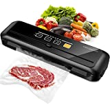 MEGAWISE 80kPa Vacuum Sealer, One-Touch Automatic Food Saver with Dry Moist Fresh Modes, Portable Vacuum...