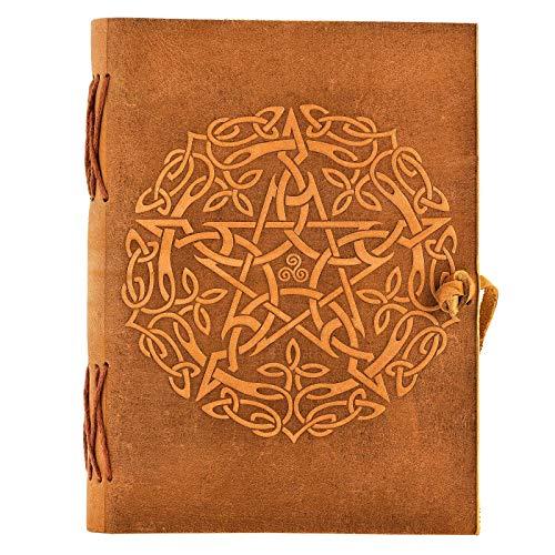 Urban Leather Celtic Star Journal, Handmade Vintage Rustic Sketchbook Writing Notebook, Unlined