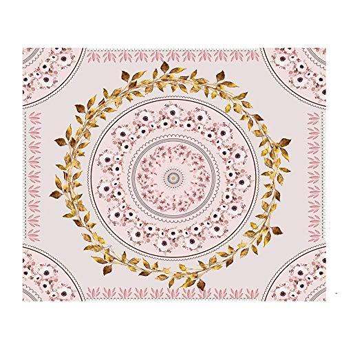 YANGYUAN Tapicería Azul Mandala de la Flor de la Flor de Bohemia Floral tapicería de la Pared decoración del hogar tapicería de la Pared de la Sala de Estar decoración del Dormitorio de Regalo (58' x