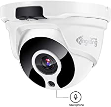 POE IP Camera,Kingkonghome 1080P Home Security Surveillance Camera with Sound, IR Night Vision, Remote Viewing,IP67 Waterproof Dome Camera for Outdoor and Indoor,Support Onvif