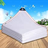 zwhw White Shade Netting, Encryption Thicken Shade Cloth, 75% Sunshade Net, Taped Edge, with Grommets, for Carport, Pergola, Greenhouse Flowers, 1X2m,2mx3m,3mx6m,4mx8m,6mx10m