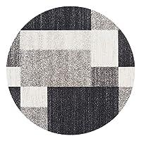 北欧 円形 ラグマット 部屋 丸型カーペット ラグ 洗える 床暖房対応 カーペット 書斎 カラー おしゃれ 幾何学 柄 柔らか 防音 140CM 滑り止め 円形ラグ ホール ベッドルーム 客間 リビング じゅうたん 絨毯 フロアマット