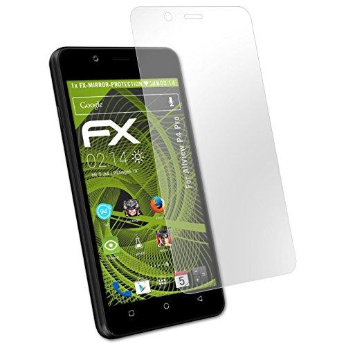 atFolix Bildschirmfolie kompatibel mit Allview P4 Pro Spiegelfolie, Spiegeleffekt FX Schutzfolie