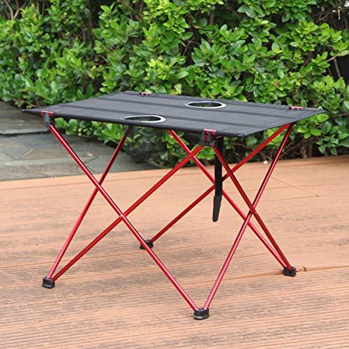 DOLA Mesas De Camping Plegables Al Aire Libre - Mesa De Picnic Portátil De Aleación De Aluminio con Portavasos para Senderismo Patio Playa Viaje Picnic