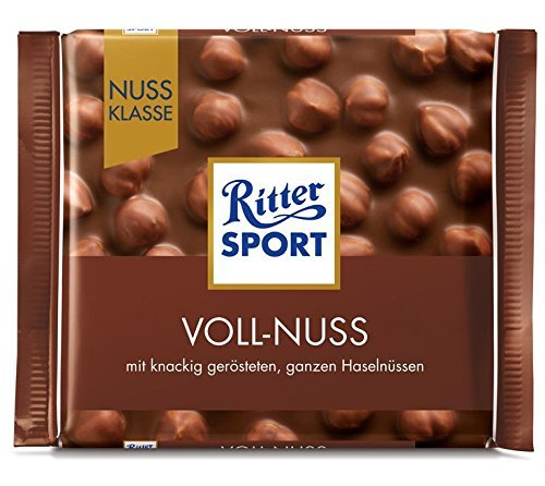 Ritter Sport Nuss Klasse Voll-Nuss, 100 g