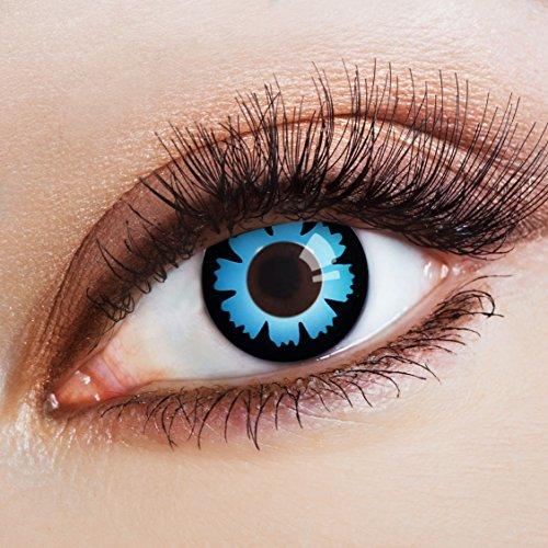 aricona Kontaktlinsen Farblinsen N°681 farbige 12-Monats Kontaktlinsen ohne Stärke, 2 Stück, Enzian