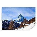 Postereck - 3438 - Matterhorn, Berg Winter Landschaft