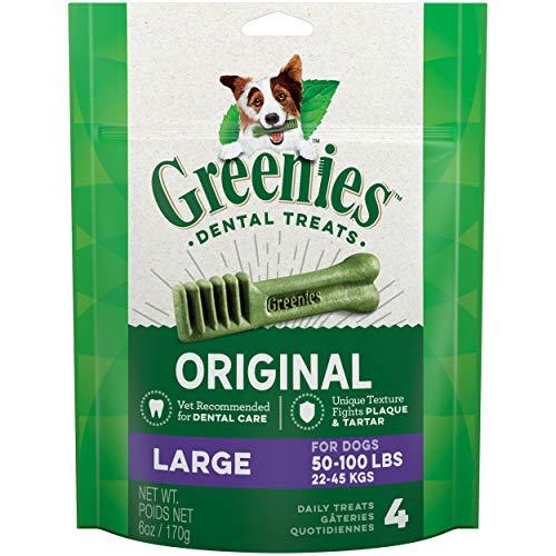 Greenies - Friandises gâteries dentaires pour Chien Grand L Sachet de 4 170 g