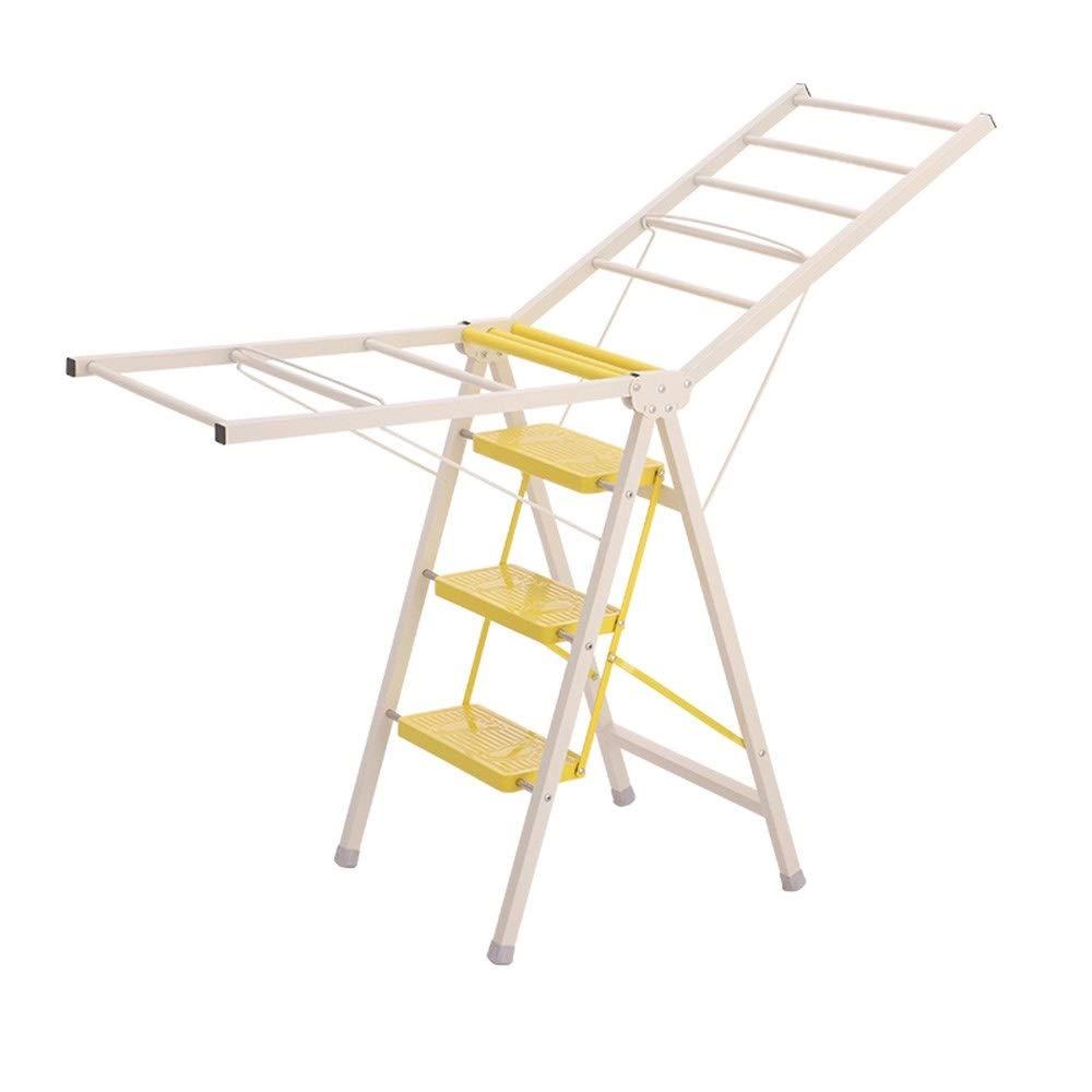 1058 YYHSND Escalera Plegable for Suelo Taburete multifunción for el hogar Colgador multifunción Taburete for escaleras de Doble Uso Taburete (Color : Yellow, Size : 50 * 85.5CM): Amazon.es: Hogar