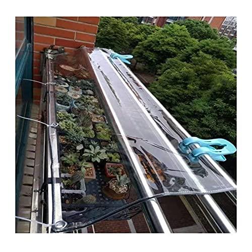 AWSAD Lona PVC Lonas Transparentes 0,5mm de Espesor Resistencia al Desgarro con Ojal para Exterior Patio Planta Mueble, 30 Tamaños (Color : Clear, Size : 3x3m)