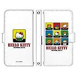 Galaxy S10 SCV41 ケース [デザイン:8.学校(wh)/マグネットハンドあり] ハローキティ Hello Kitty サンリオ 手帳型 スマホケース カバー ギャラクシーエス10 scv41