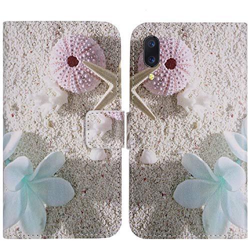 TienJueShi Estrella de mar Book Style Funcion de Soporte Funda Caso Carcasa Proteccion Cuero Skin Case Cover Etui para Vmobile V A2 Lite 5.84 Inch
