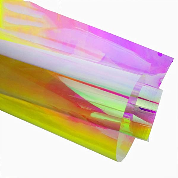 HOHOFILM 17 7 X39 3 Chameleon Color Decorative Window Films Rainbow Effect Iridescent Adhesive Window Tinting For Glass