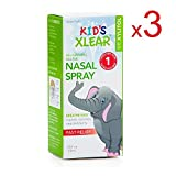 XLEAR Kid's Natural Saline Nasal Spray with Xylitol, .75 fl oz (3 Pack)
