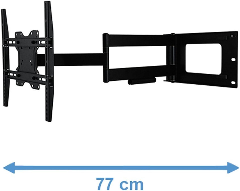 DQ Hercules Fixed 400 Schwarz TV Wandhalterung - Empfohlene TV-Gre  24  - 63  - VESA 75x75 100x100 200x100 200x200 300x300 400x200 400x300 400x400 mm - Drehbar   Schwenkbar