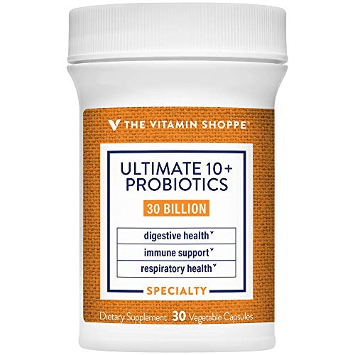 Ultimate 10+ Probiotics, 30 Billion CFUs for Digestive Health, Immune Support and Respiratory Health (30 Vegetable Capsules) by the Vitamin Shoppe