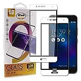Guran [2 Paquete Protector de Pantalla para ASUS Zenfone 3 MAX ZC520TL Smartphone Cobertura Completa Protección 9H Dureza Alta Definicion Vidrio Templado Película - Blanco
